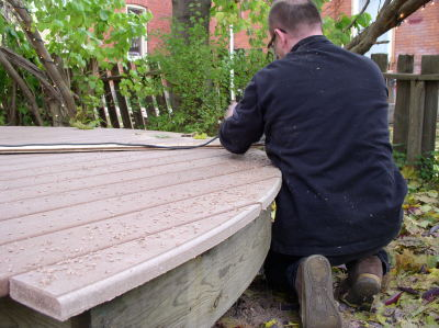 Routering Trex decking